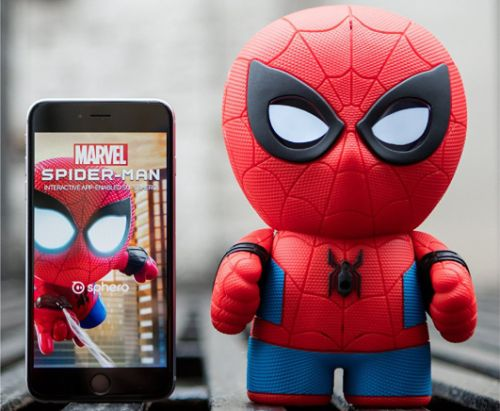 Yeah, you definitely need this tiny Spider-Man robot with speech recognition and LCD eyes