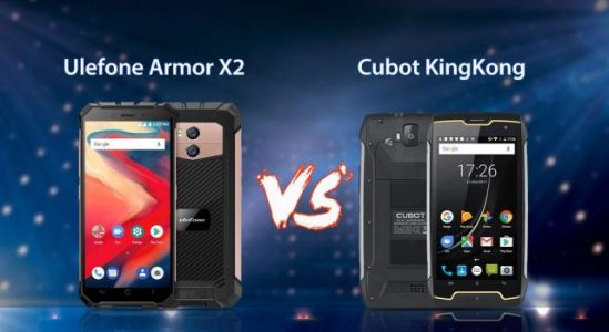 Ulefone Armor X2 vs. Cubot KingKong - battle of cheap rugged phones
