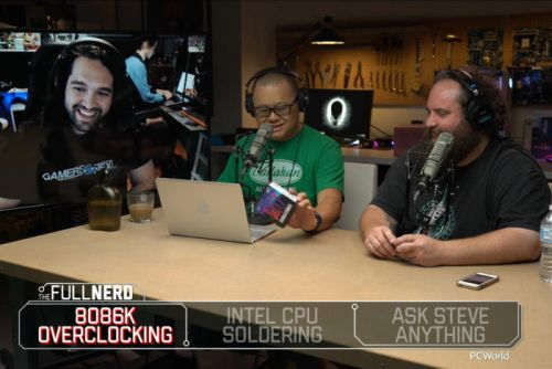 The Full Nerd ep. 59: Core i7-8086K overclocking and CPU soldering with Steve from Gamers Nexus