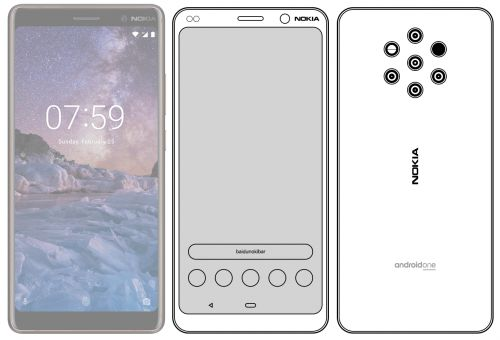 Nokia 9 Design sketch compares it to Nokia 7 Plus in terms of design & size