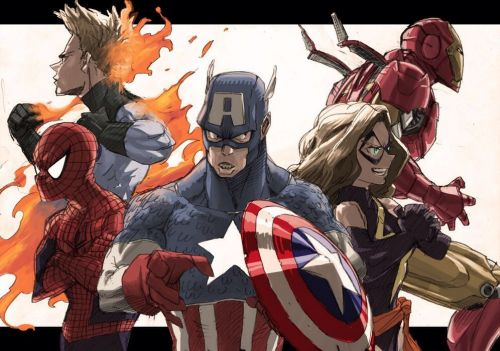 Check Out Marvel Fan Art from the Creator of MY HERO ACADEMIA