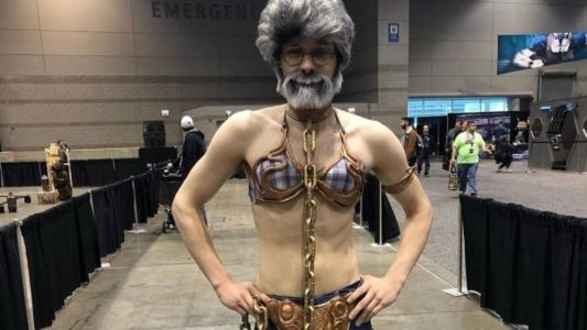 Celebrate STAR WARS Day With This Hilarious Slave Leia George Lucas Cosplay