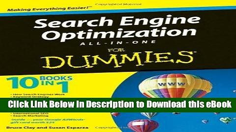 Download Search Engine Optimization All-in-One For Dummies Full Books