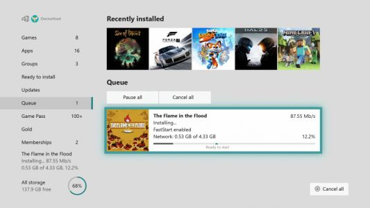 Xbox One July update halves download times