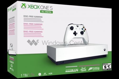 Microsoft's disc-less Xbox One S reportedly launching May 7th