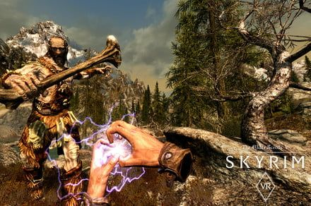 Start your 57th character when 'Skyrim VR' hits Rift and Vive this April