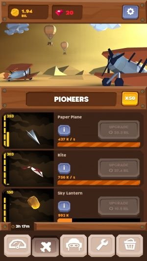 Everything you need to win at Idle Skies for mobile