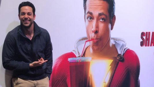 Zachary Levi Shares Photo of First Official Promo Banner For SHAZAM!