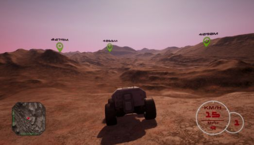 This new high-speed rover simulator uses actual Mars terrain scans