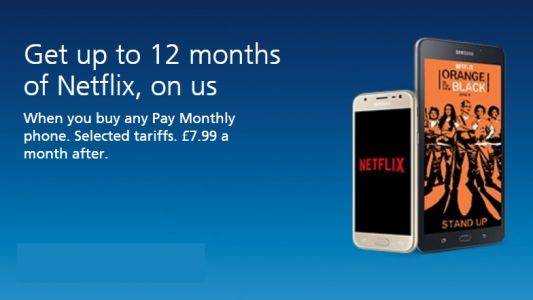 Get free Netflix now with mobile phone deals from O2