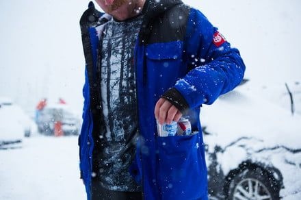Stay warm while keeping your beer cool with the Sixer insulated jacket