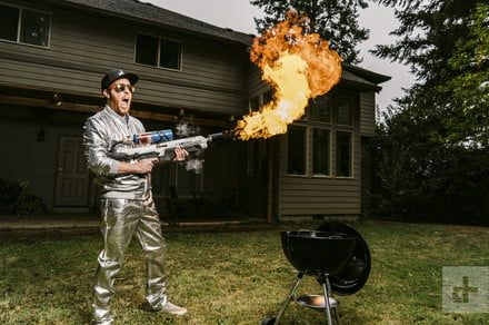 I cooked all my food with a flamethrower for a day and this is what happened