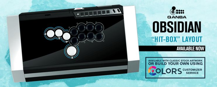 """Hit-Box"" modified Qanba Obsidian controllers and parts now available from Arcade Shock"