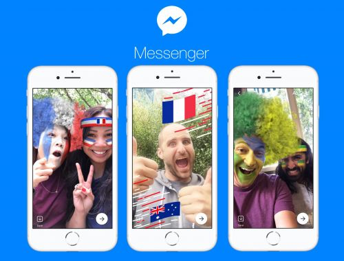 Facebook Messenger adds World Cup-themed filters and games