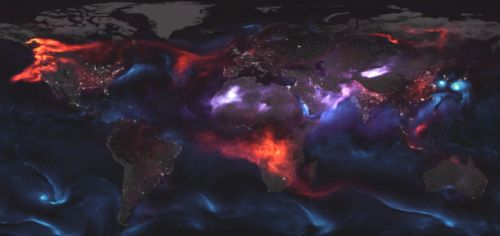 This gorgeous NASA map shows Earth's incredible aerosol clouds
