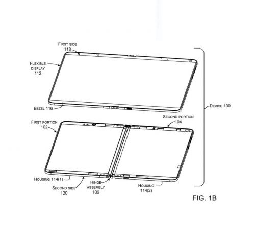 Microsoft patent points to a flexible, single-screen folding Surface device