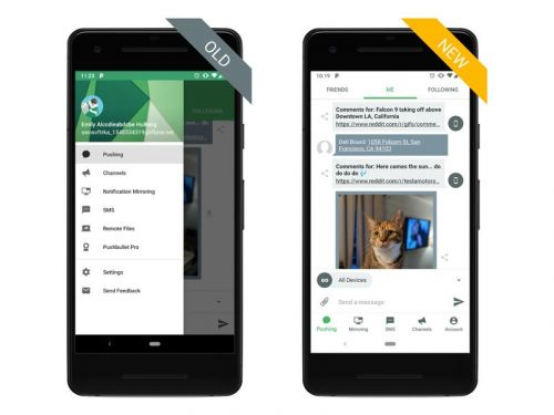 Pushbullet's Android app is getting a complete redesign