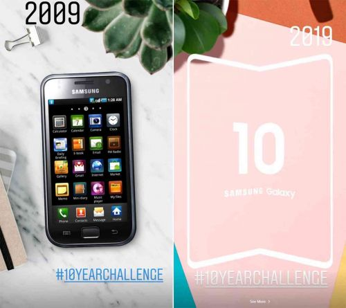 Samsung uses 10YearChallenge to tease its foldable smartphone