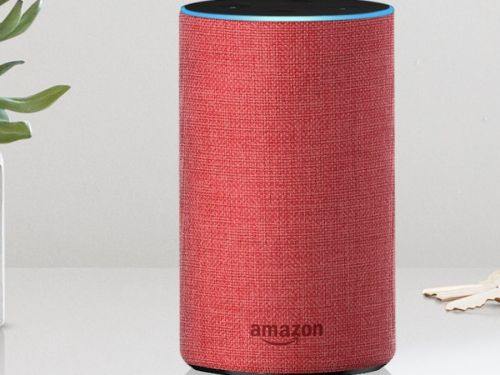 Amazon is selling a red Echo as part of an effort to support an AIDS charity