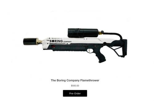 California politician will seek sale ban on Elon Musk's Boring Company flamethrower