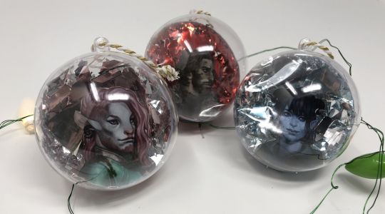 DIY: Create These Critical Role Character Portrait Holiday Ornaments