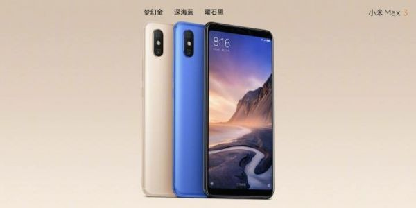 Xiaomi Intros Mi Max 3 With 6.9-Inch Display & 6GB Of RAM
