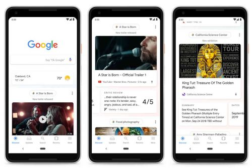 Google's news feed is now called Discover, and it's coming to the mobile homepage