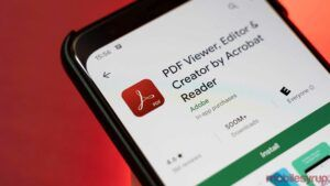 Adobe pushing its own apps through the Android Share sheet