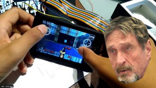 Watch this 15-year-old hacker play DOOM on John McAfee's 'unhackable' crypto-wallet