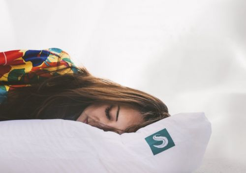 The Sleepgram pillow's smart design makes it perfect for back, side, or even stomach sleepers