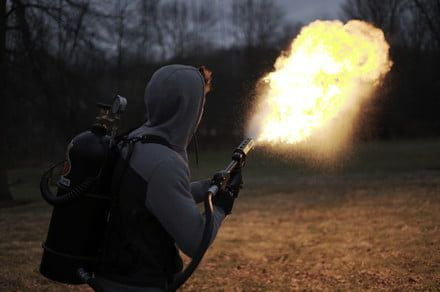 This ridiculous new flamethrower makes Elon Musk's look like a cigarette lighter