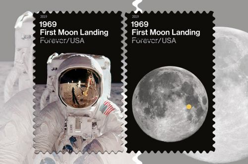 USPS '1969: First Moon Landing' Stamps Pinpoint Tranquility Base
