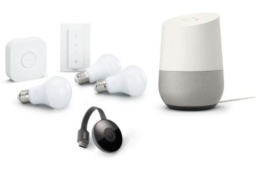 Des packs Google Home, Chromecast et Philips Hue à 199 euros