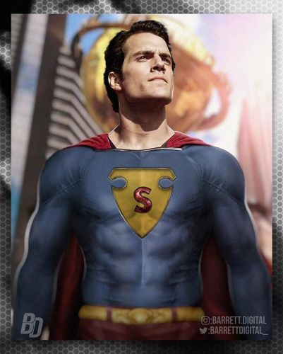 Check Out Henry Cavill Rocking the Golden Age Superman Suit