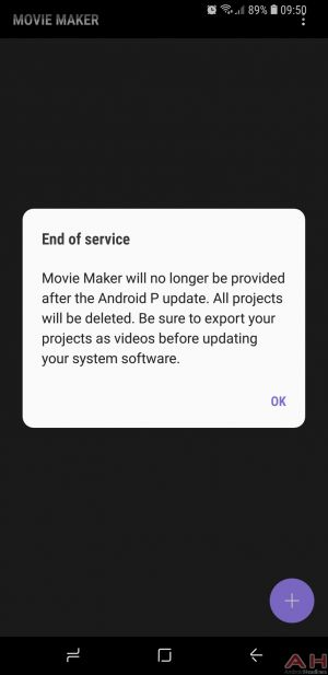 Samsung Scrapping Movie Maker App With Android P Update