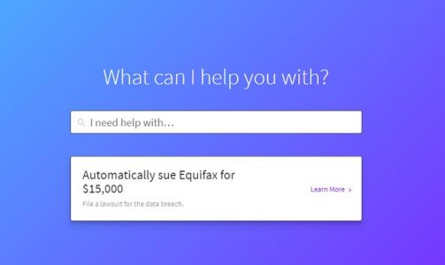Want to sue Equifax? Chatbot can help