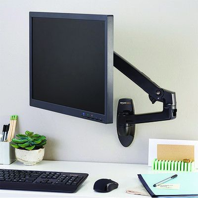 This $78 AmazonBasics wall mount allows you to move your monitor where you want
