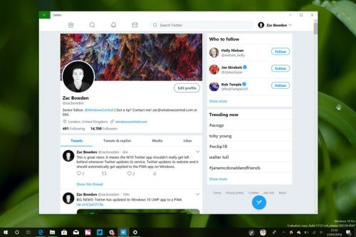 Twitter PWA update 'greatly' speeds up image uploads, supports screen rotation