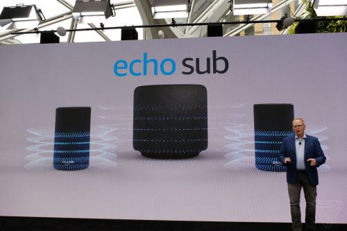 Amazon announces Echo Sub, a $129.99 subwoofer that pairs with Echo speakers