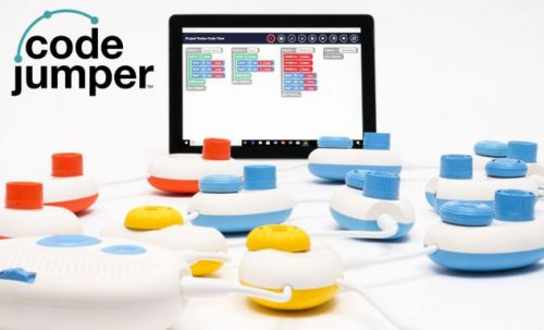Microsoft Code Jumper is a physical programming tool for blind kids