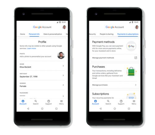 Google adds a search feature to account settings to ease use