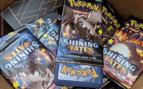 Shiny Pokemon TCG Shining Fates unboxing and foil inspection