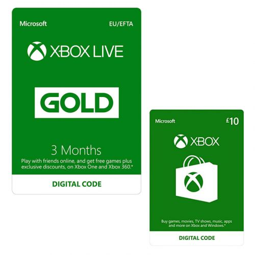 UK Deal: Free £10 Xbox gift card when you buy 3 months of Xbox Live Gold