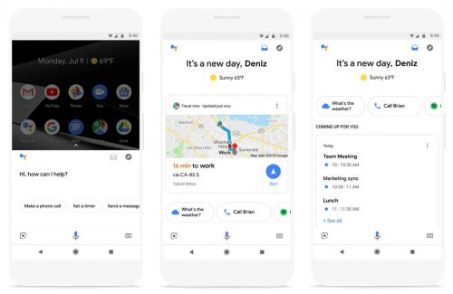 Google Assistant can show you a visual overview of your day