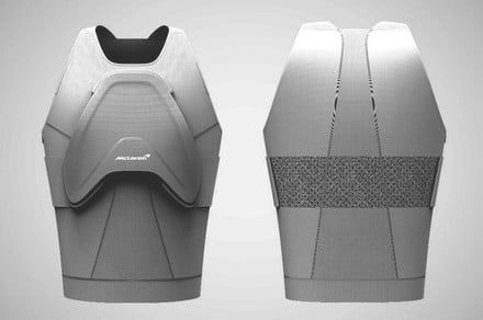 McLaren Invincible shield body armor protects human organs with F1 car tech