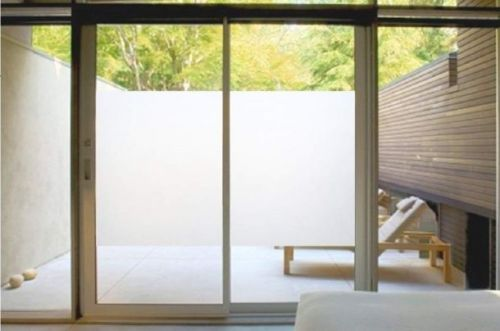 Turn any windows into frosted glass windows with film that's $7 for a 7-foot roll