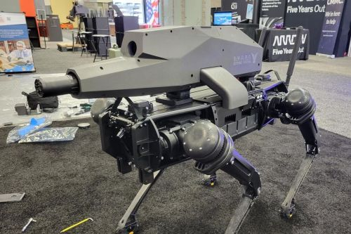 They're putting guns on robot dogs now