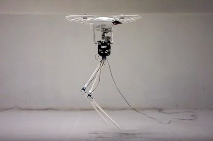 Drone-powered, stork-like robot's spindly twig legs keep it from taking off