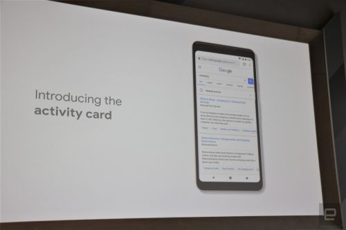 Google's new activity cards will save your previous searches
