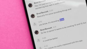 Otter automatically transcribes your conversations